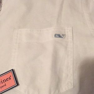 NWT vineyard vines white oxford button up sz10
